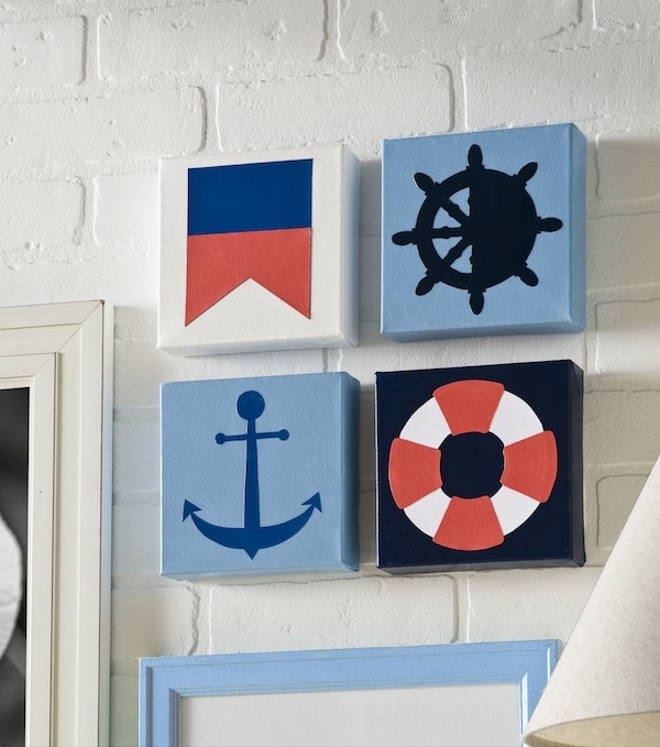 Summer Spotlight - Amy from Mod Podge Rocks! - How to make DIY nautical canvases