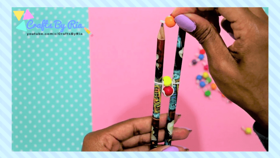 easy diy bracelet- steps-repeat the process of putting beaded rubberbands