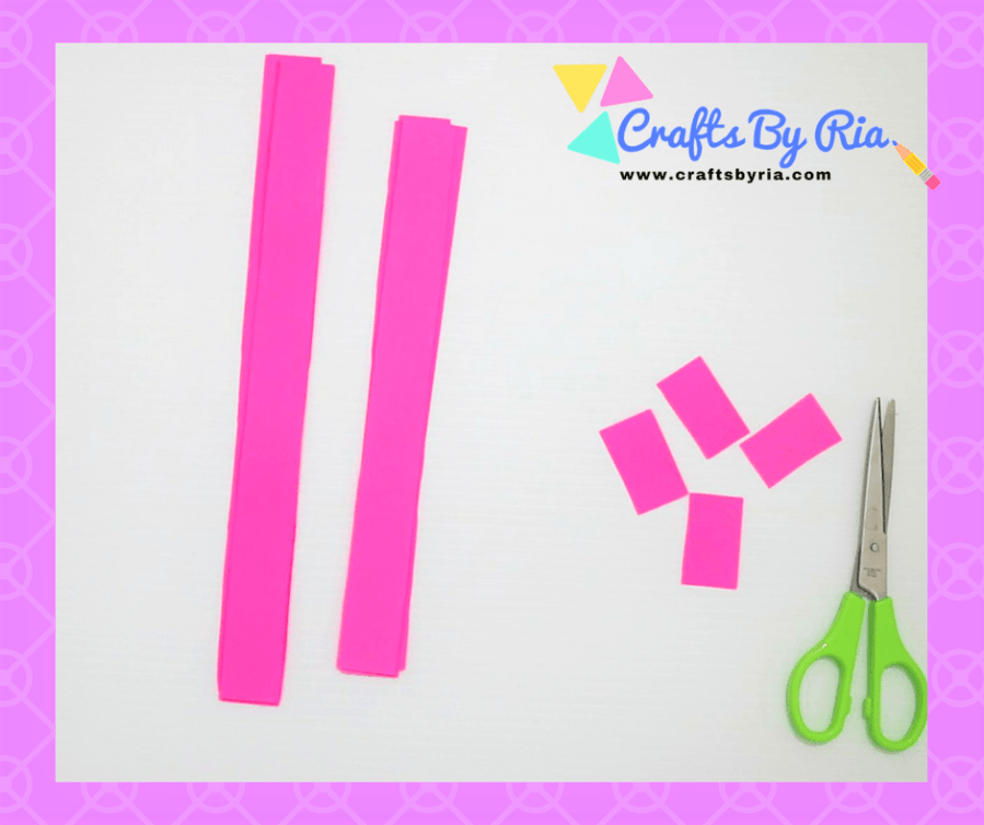 Easy Paper Bow steps- cut 4 cms out of one set