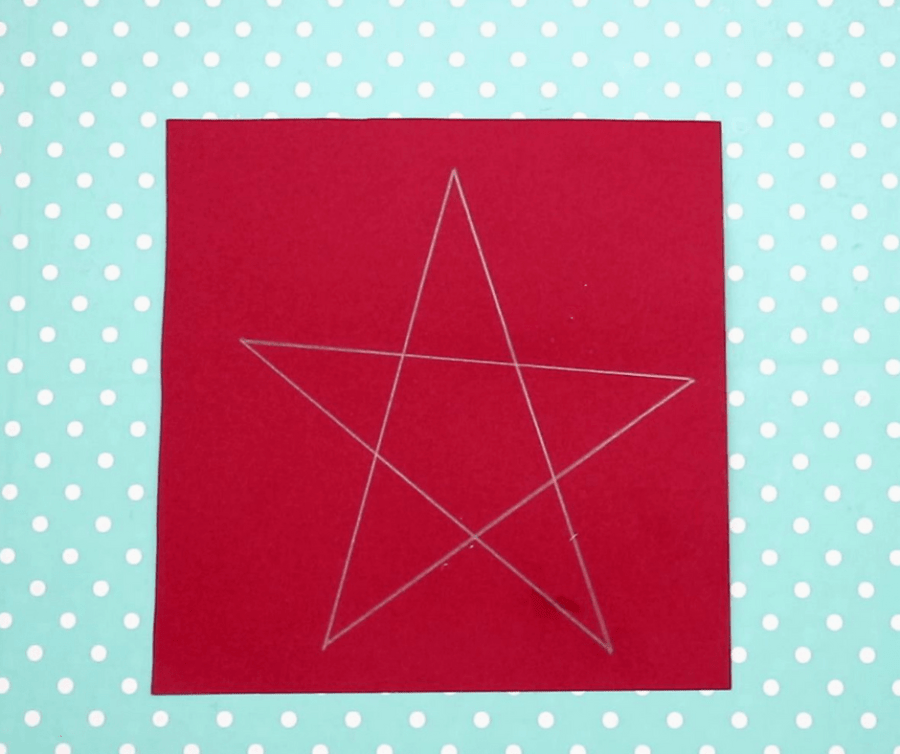 4th of july paper easy crafts for kids- draw a star