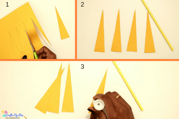 paper necklace craft for kids-step3