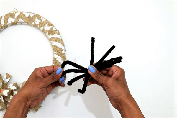 diy halloween wreath-step9-bend the sticks to form a v shape