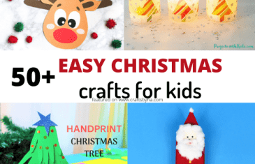 50+ easy christmas crafts for kids-featured image