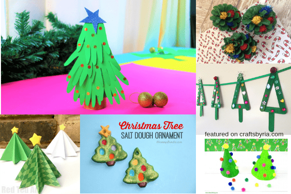 christmas tree craft-2-easy christmas crafts for kids