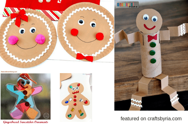 gingerbread man crafts-easy christmas crafts for kids
