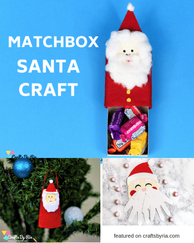 santa crafts-easy christmas crafts for kids