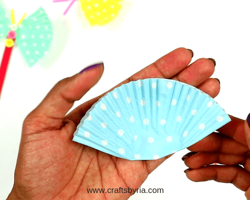 cup cake liner butterfly-step2