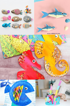 ocean crafts-easy summer crafts for kids