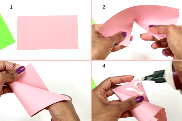 icecream cone craft-step1