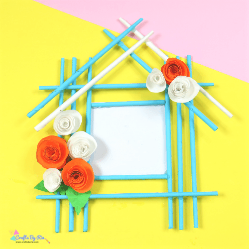 paper photo frame craft for kids-square