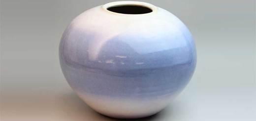 萩焼 花瓶 あじさい壺