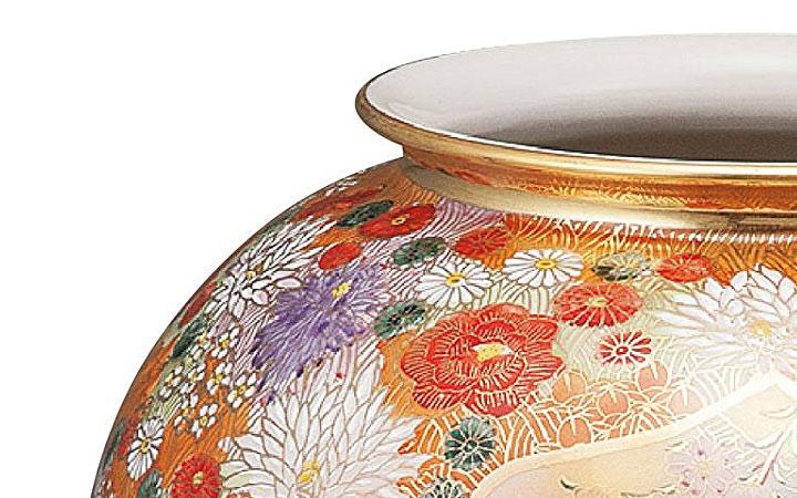 九谷焼 10号花瓶 割取花詰