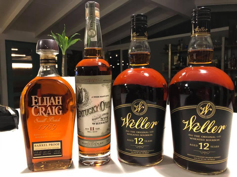 whiskey, Elijah Craig, Kentucky Owl, Weller, bourbon, rye whiskey, whisky