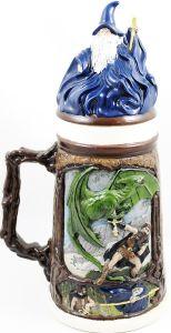 magic beer stein dragon magician sword