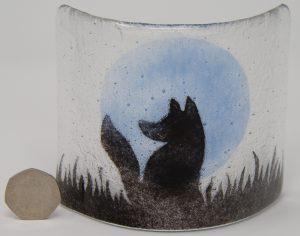 A fox sitting