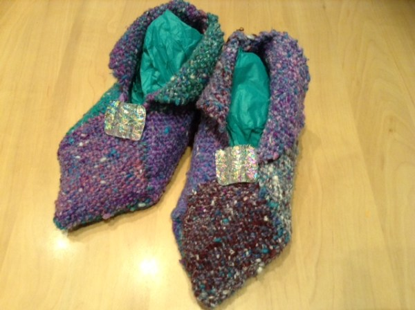 palm loom slippers
