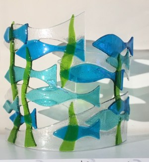 shoal of glass fish