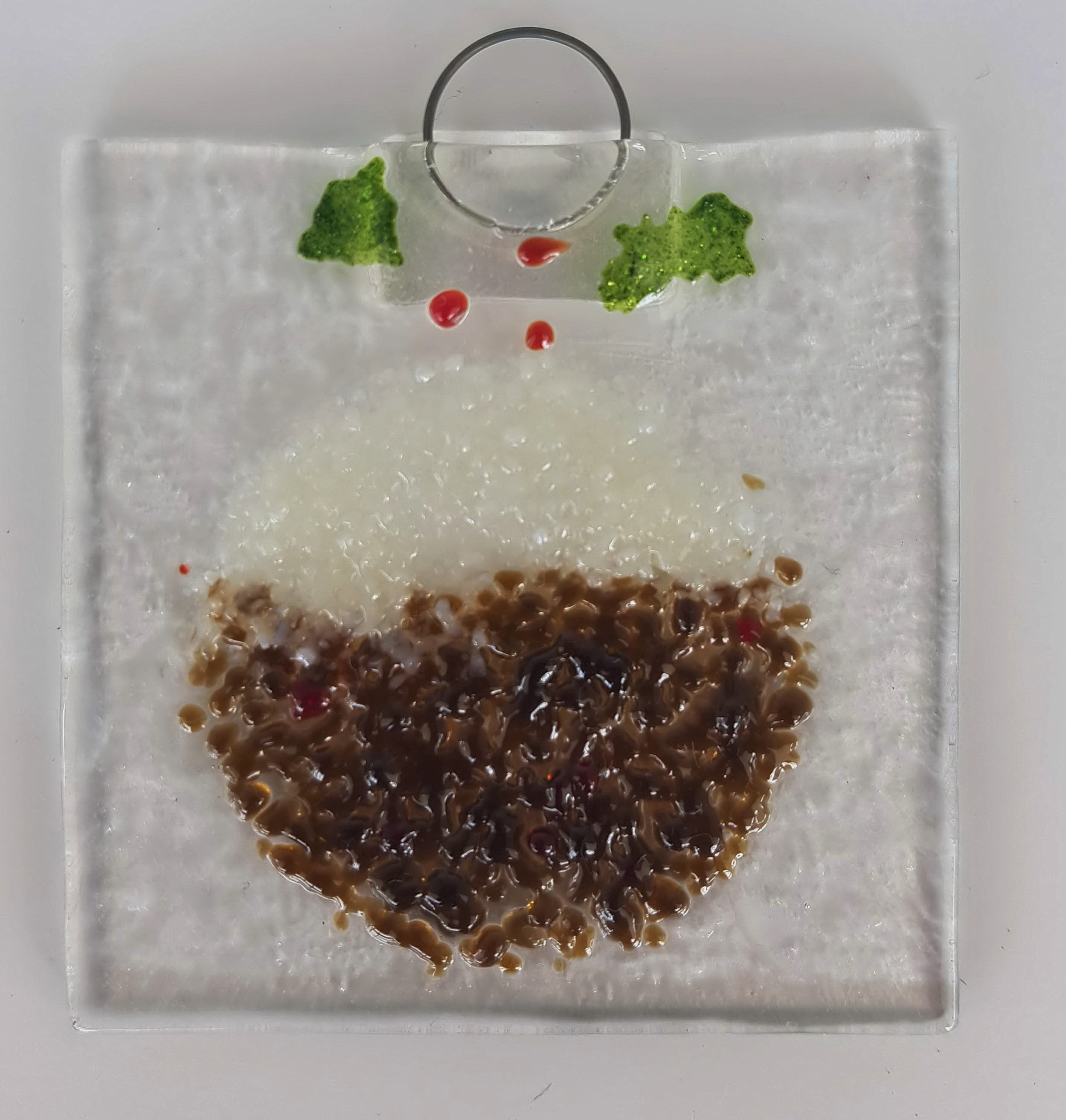 christmas pudding made from glass