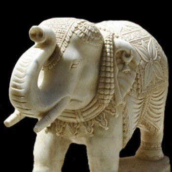 marble artifacts,elephant statue,home decor