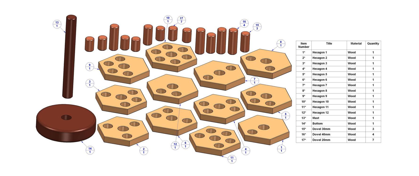 wooden burr puzzle plans | bijaju54