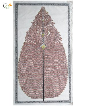 Rose-Gold Tree Tasar Painting 22 x 40 in