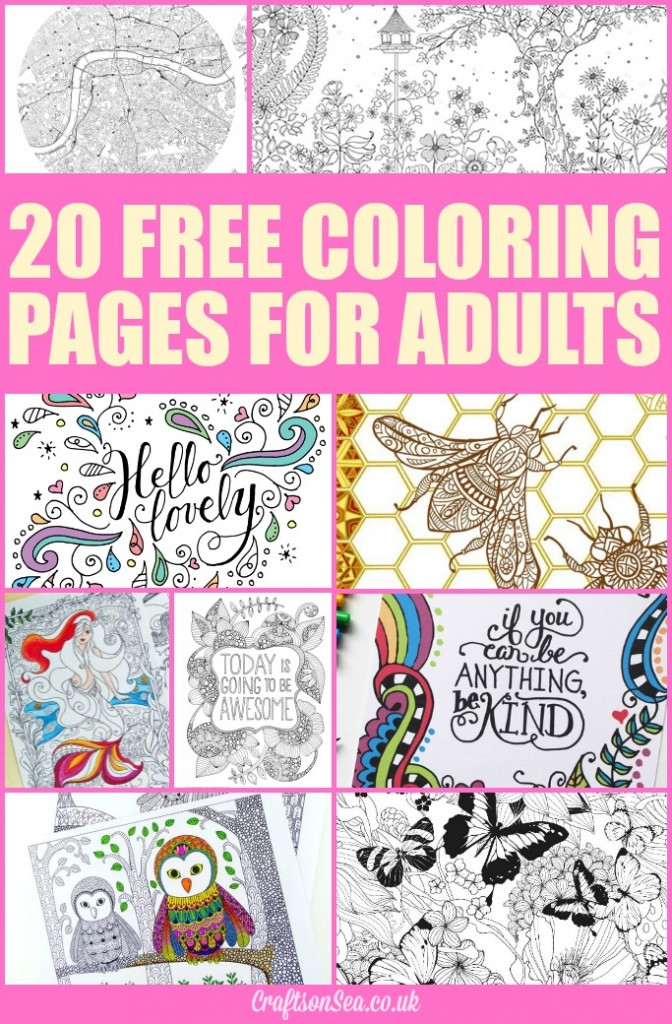 20 Free Coloring Pages For Adults Crafts On Sea