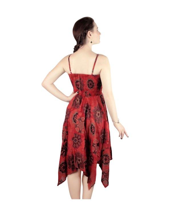 Boho Maxi Dress in Red
