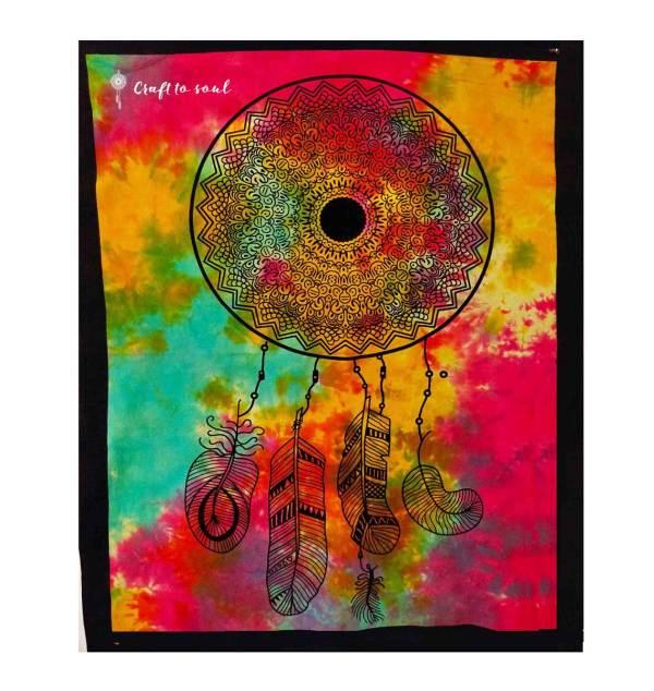 Tie Dye Dreamcatcher Tapestry