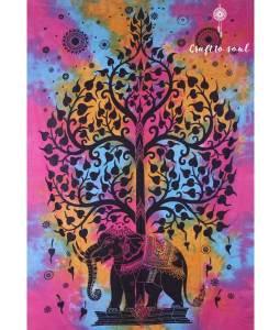 Tree of Life Elephant Tapestry