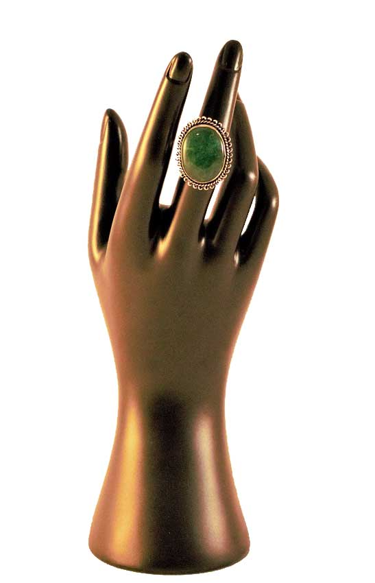 Green Cabochon Stone Ring
