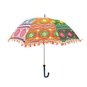 Embroidered Sun Parasol
