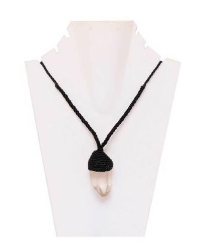Raw Quartz Necklace Pendant