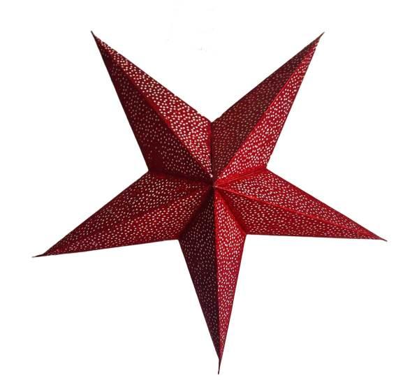 Star Glitter Lantern Red