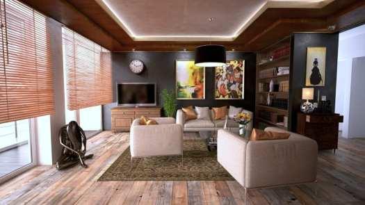 living room with wooden floor and underfloor heating