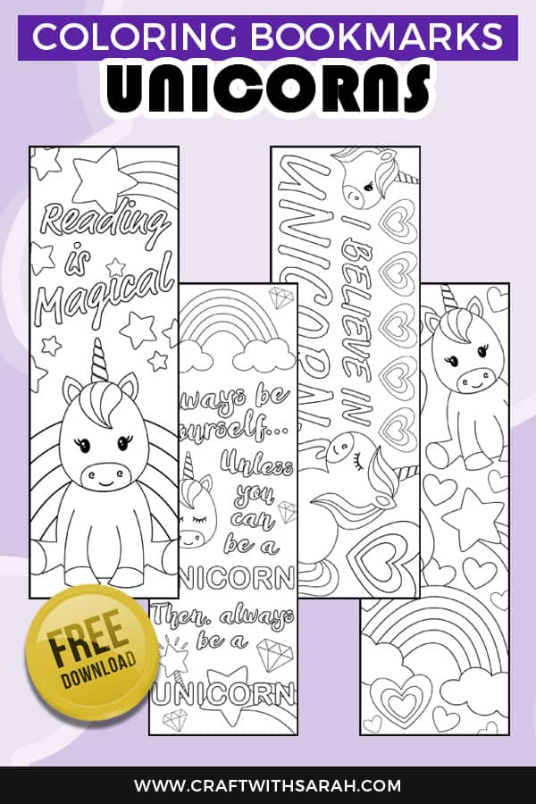 printable unicorn bookmarks # 49