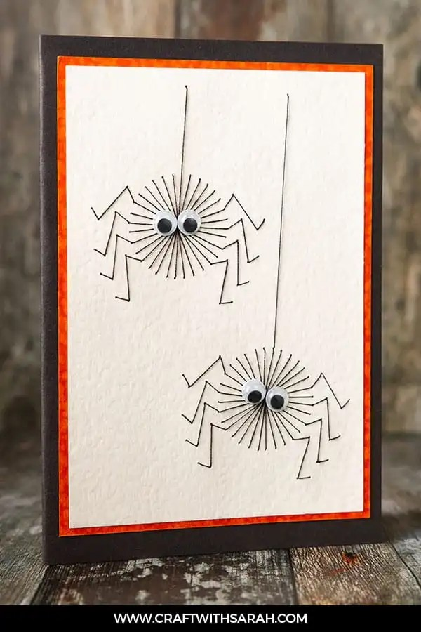 Stitch these Spooky (but Cute!) Spiders for Halloween!