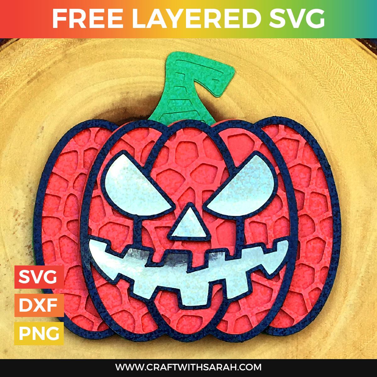 Halloween Jack O Lantern Pumpkin Layered Svg