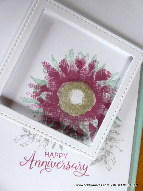 Painted Harvest sunflower anniversay card