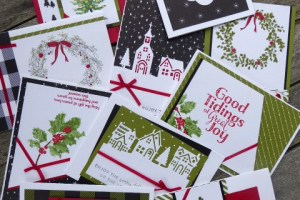 Stamp-a-Stack event featuring Stampin' Up product