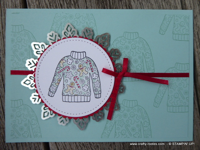 Christmas jumpers for a seasonal card