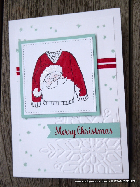 Gorgeous Santa sweater card