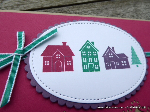 Christmas card featuring Hearst Come Home stamp set