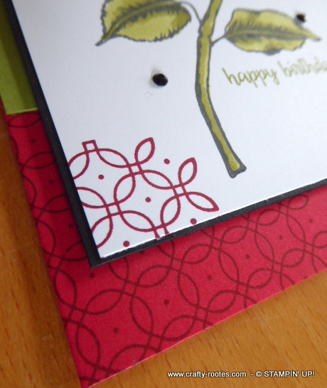Decorated corners on a card