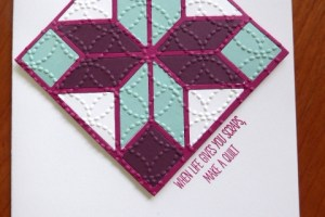 Quirky card for a quilter