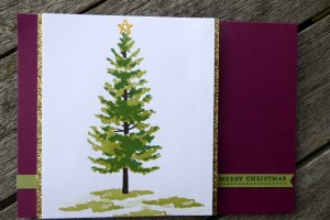Multiple layered Christamas tree card