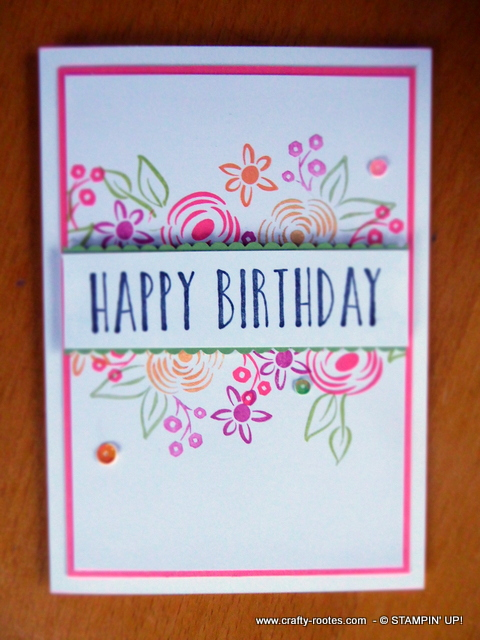 Pretty feminine card using Stampin' Up! product