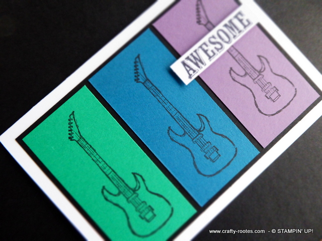 Bold colours for a musical masculine card