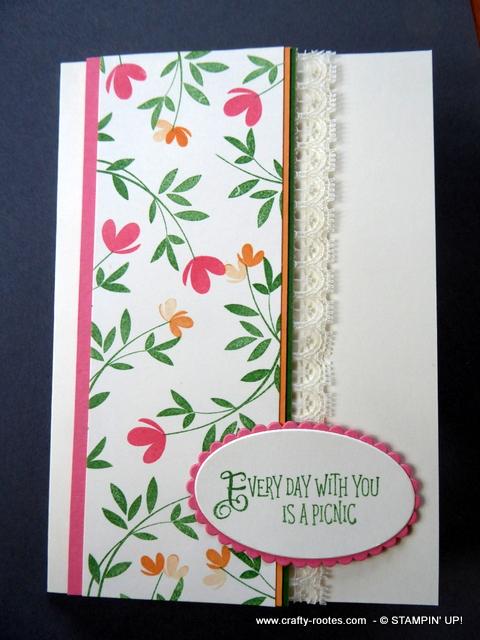 Dainty flowers on a card