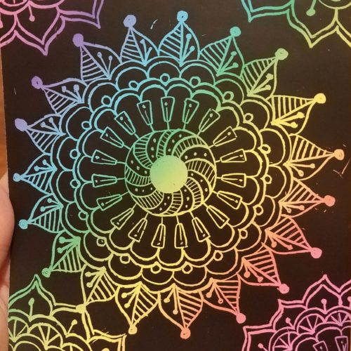 Mandala Scratch Fun!