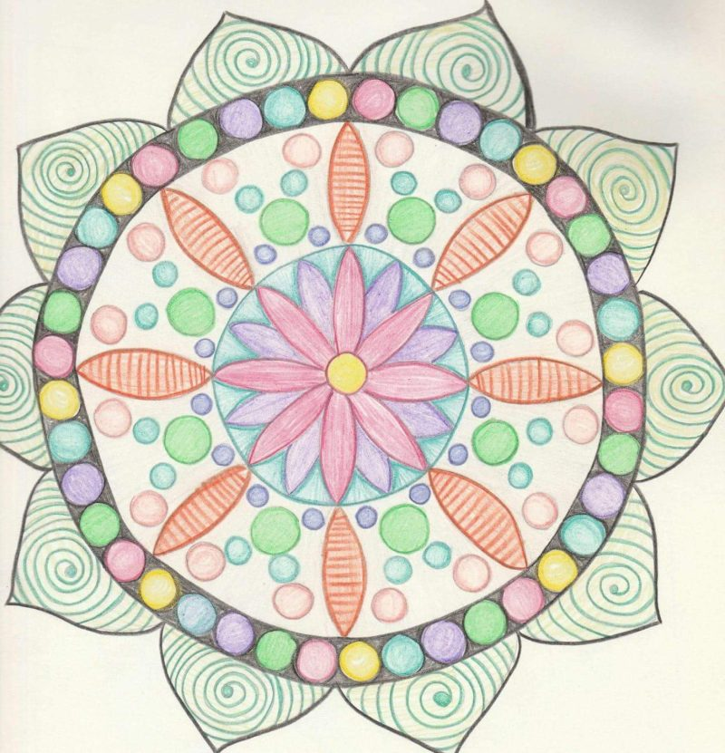 What did my first mandala look like?